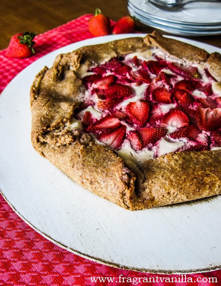 Vegan Strawberry Lemon Cream Cheese Galette