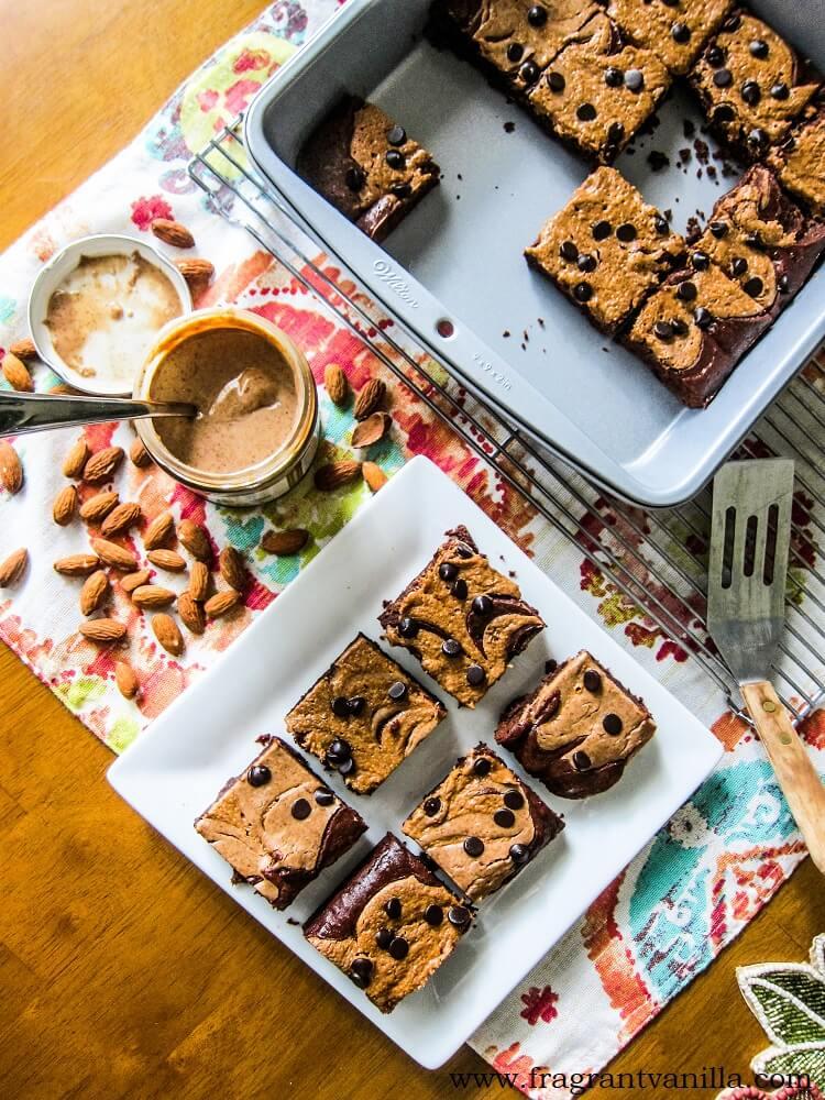 Vegan Almond Butter Brownies