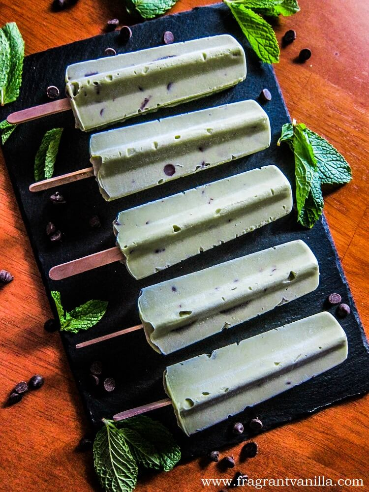 Vegan CBD Mint Chip Ice Cream Pops
