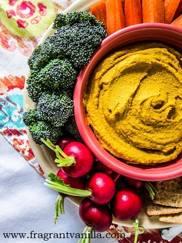 Moroccan Roasted Carrot Hummus