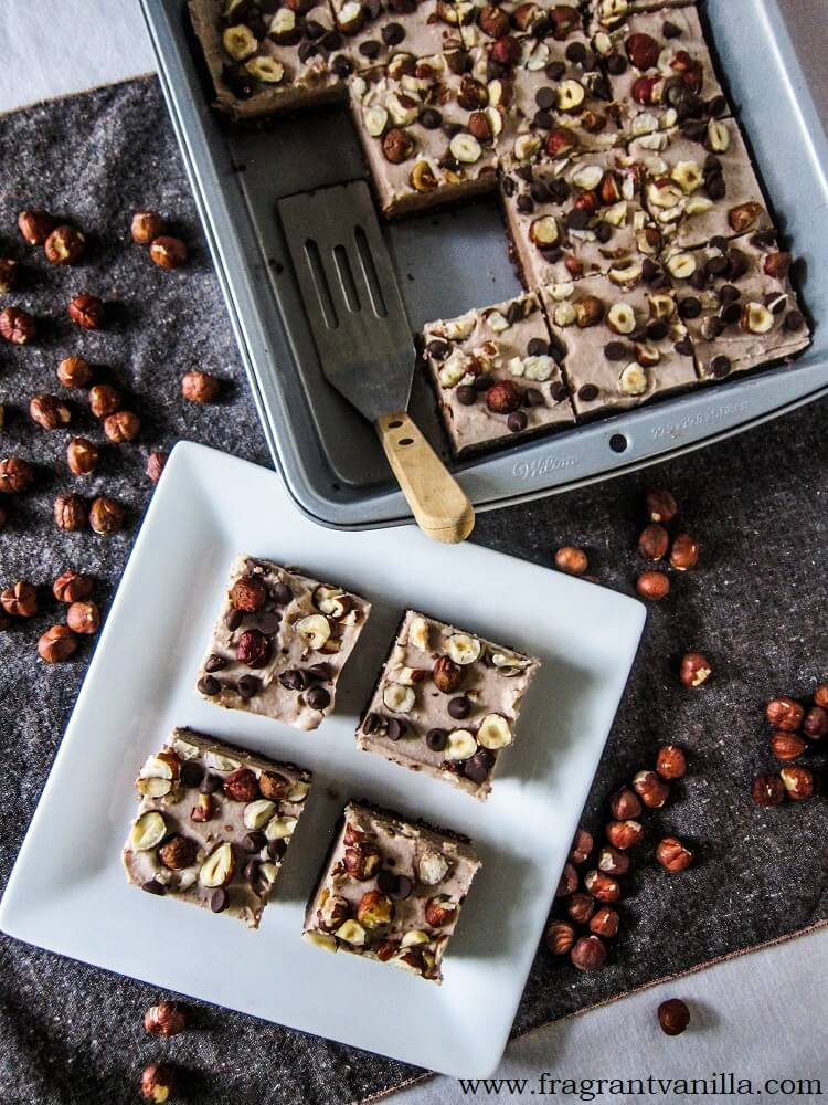 Vegan Hazelnut Bliss Bars