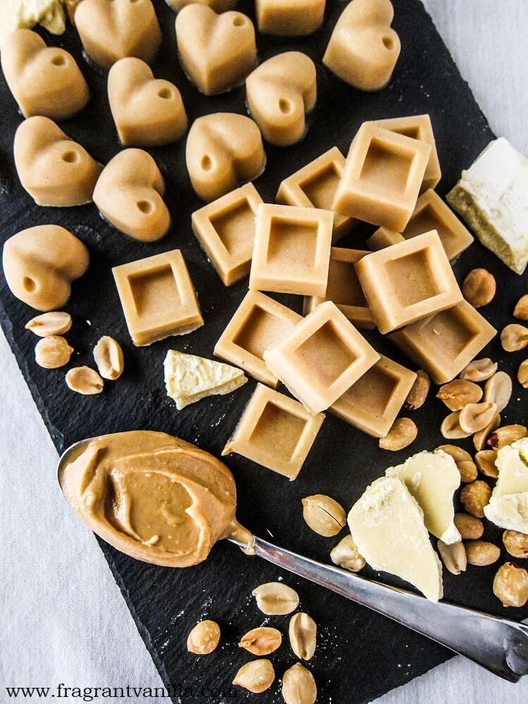 Vegan Peanut Butter White Chocolates