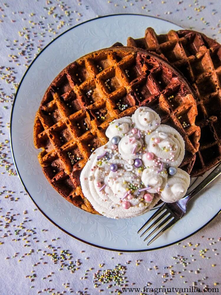 Vegan Marble Cake Waffles