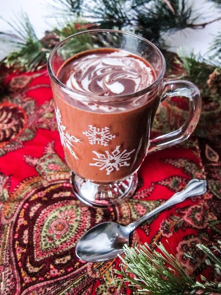 Peppermint CBD Hot Chocolate