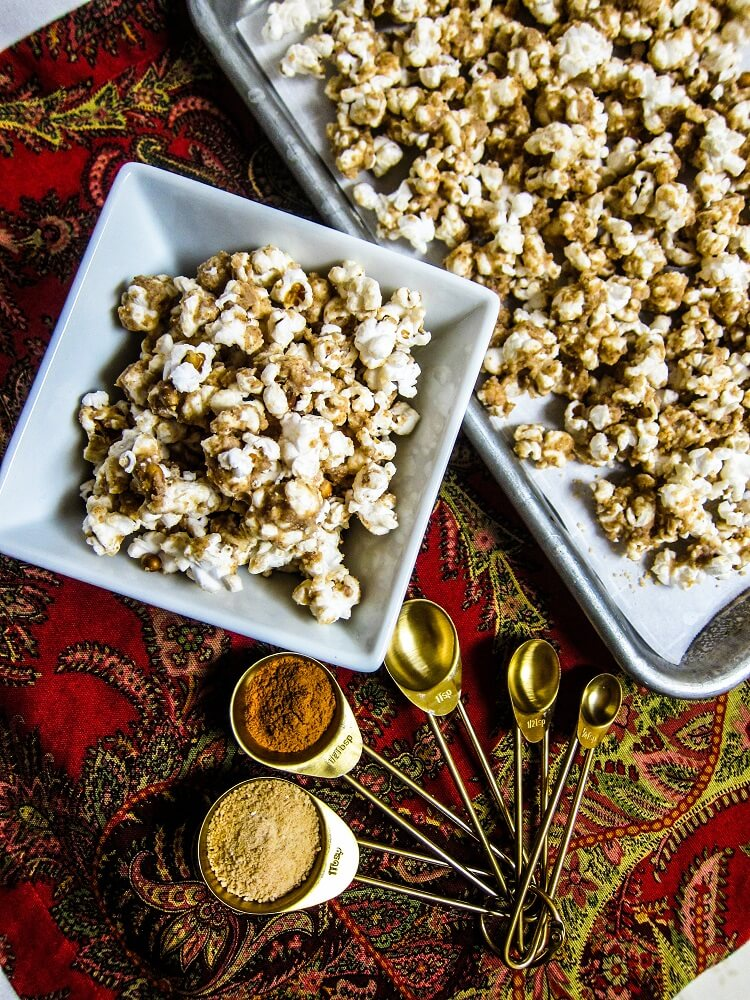 Vegan Snickerdoodle Cookie Dough Popcorn