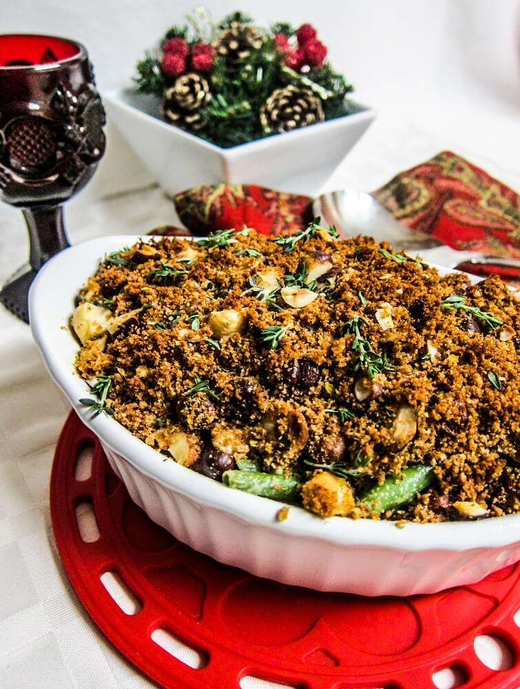Vegan White and Green Bean Casserole