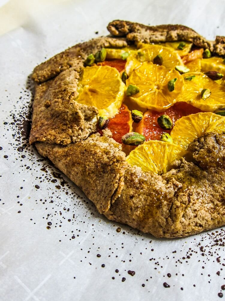 Vegan Caramelized Citrus Galette