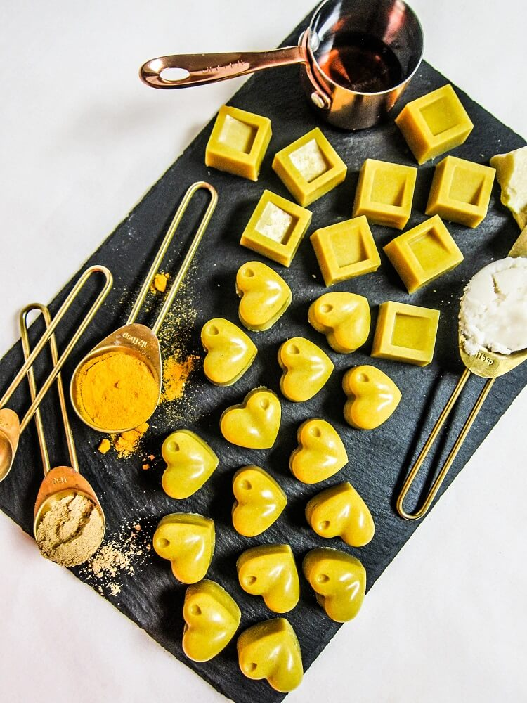 Vegan Golden Turmeric White Chocolates