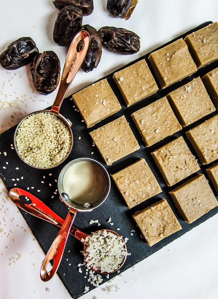Salted Caramel Tahini Fudge