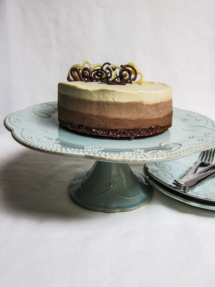 Vegan Triple Chocolate Cheesecake