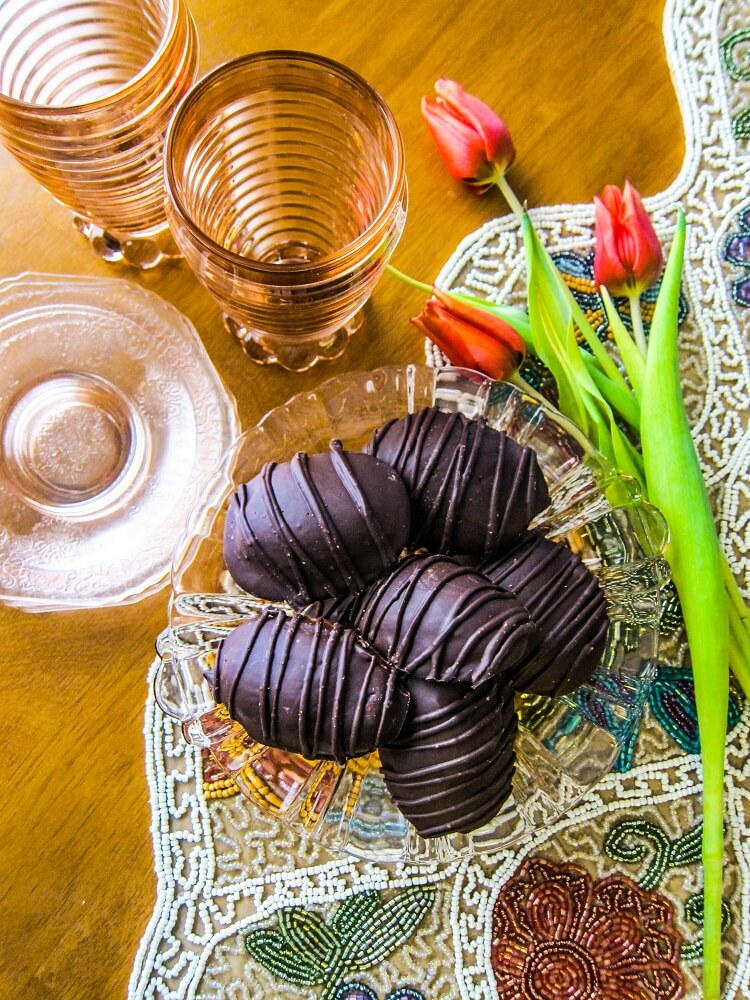 Chocolate Almond Butter Eggs