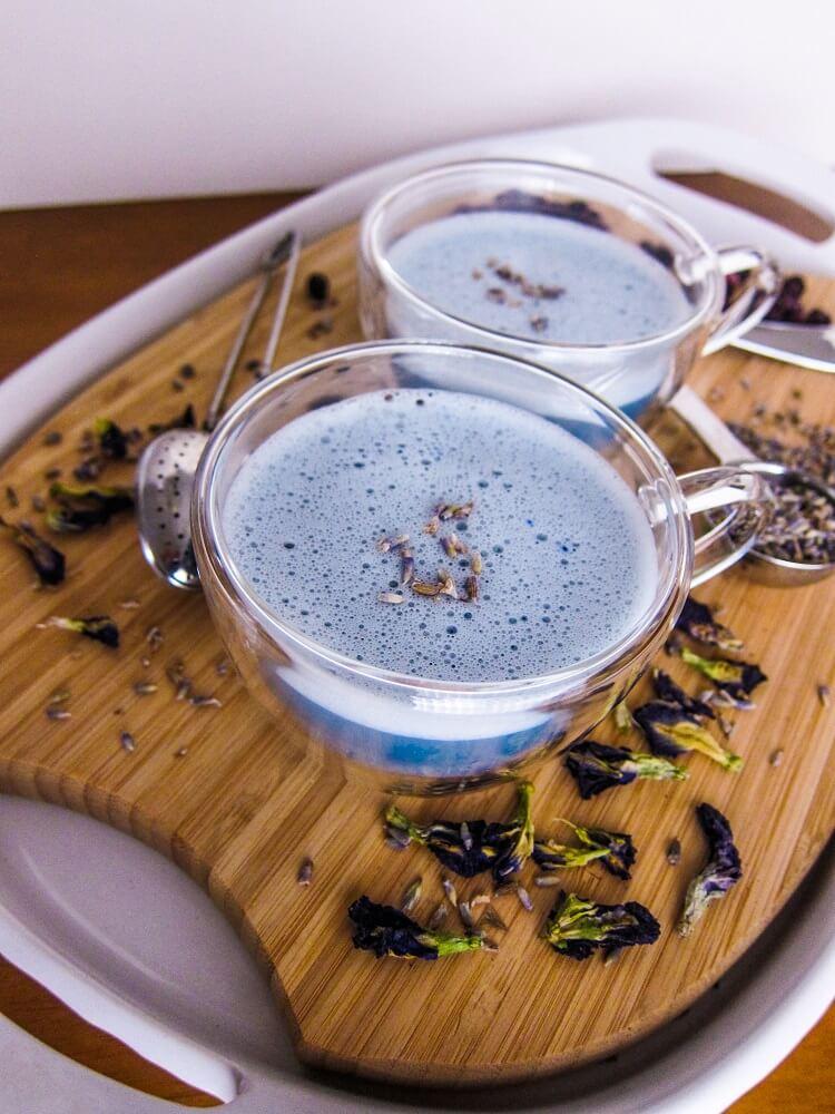 Blueberry Lavender Latte