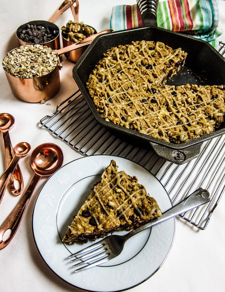 Vegan Giant Irish Oatmeal Skillet Cookie