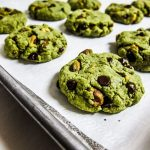 Vegan Matcha Pistachio Chocolate Chip Cookies