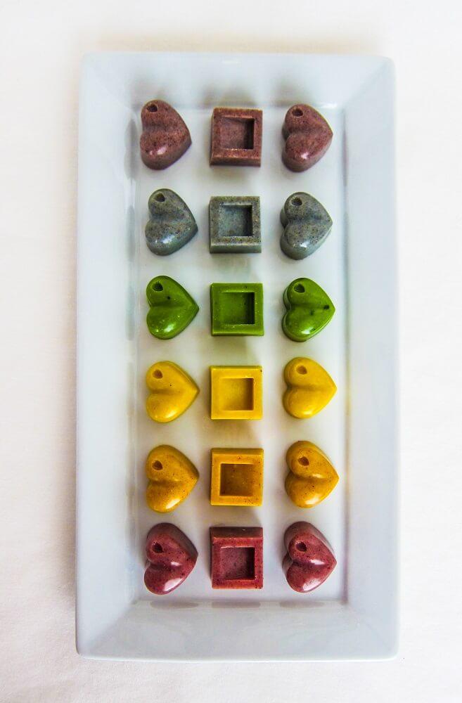 Rainbow Vegan White Chocolates