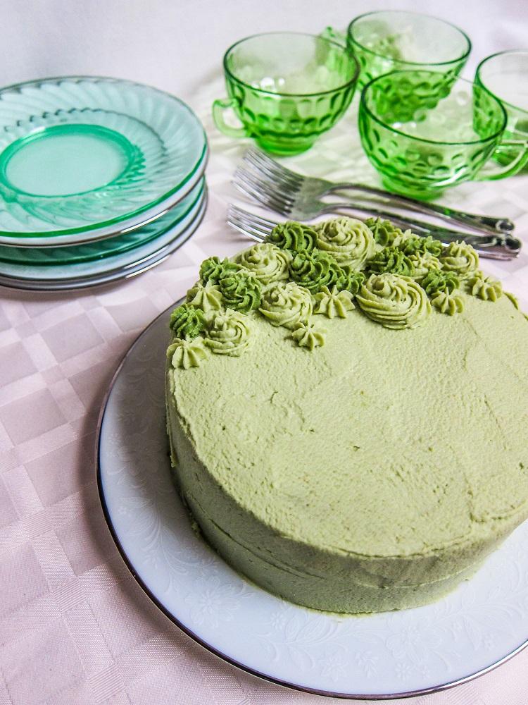 Vegan Peppermint Vanilla Cake