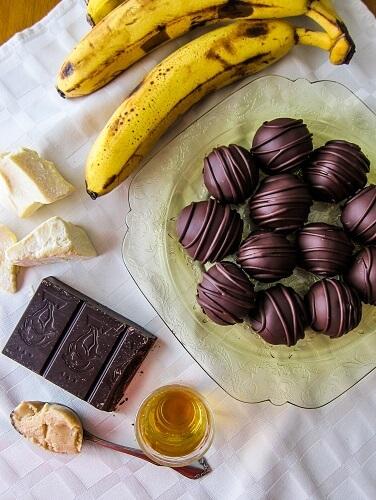 Vegan Banana's Foster Truffles