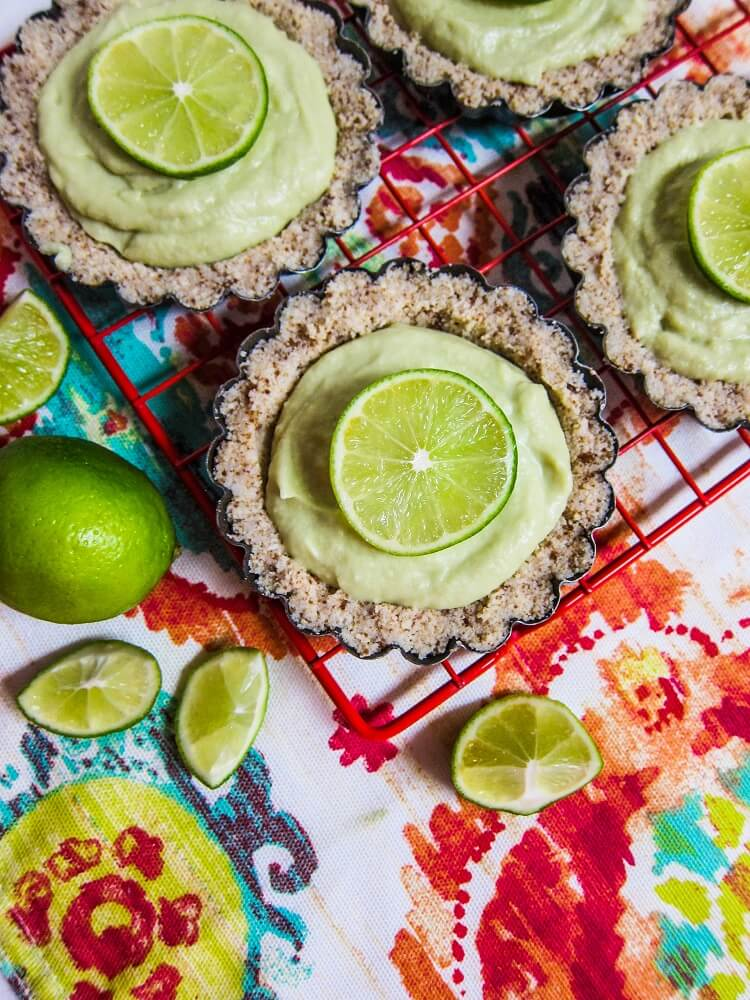 Mini Avocado Lime Cream Tartlettes