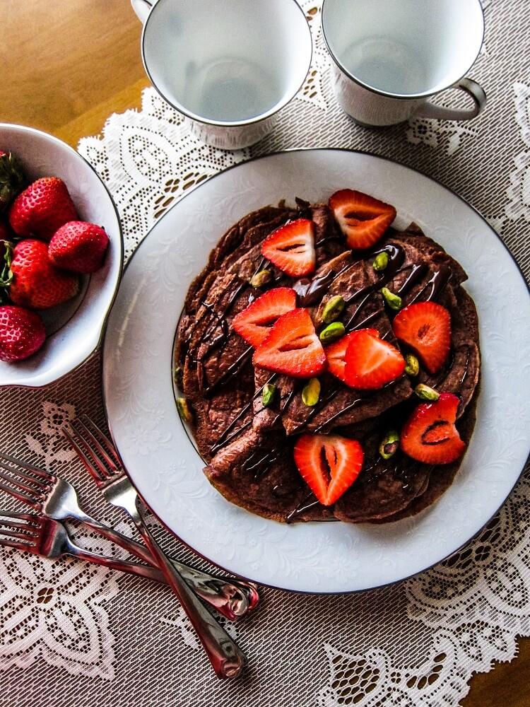 Vegan Chocolate Crepes