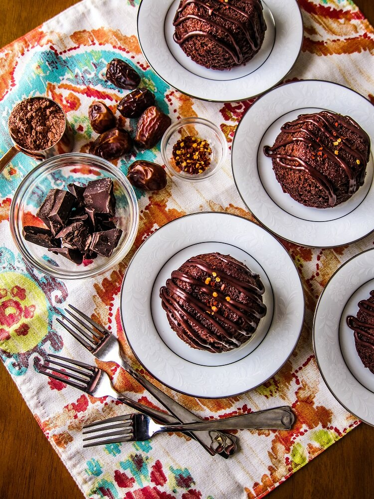 Vegan Mexican Chocolate Lava Cakes