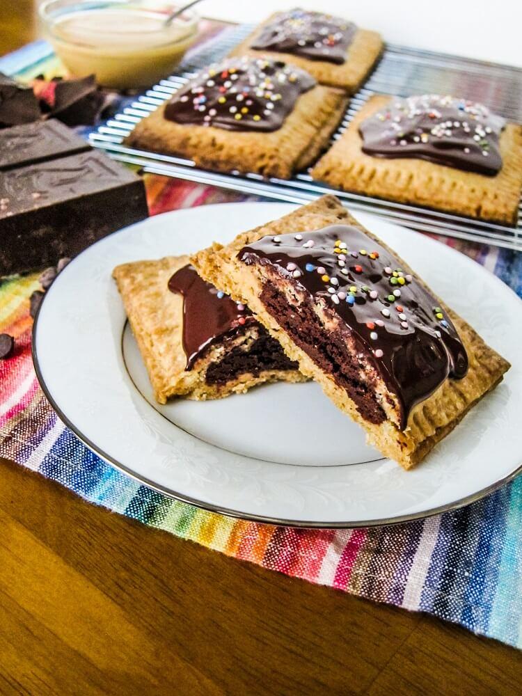 Vegan Peanut Butter and Dark Chocolate Pop Tarts