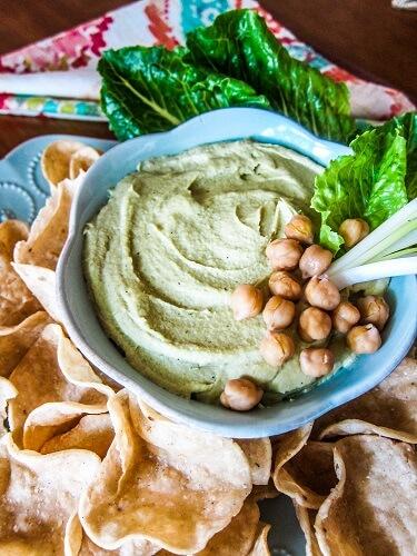 Roasted Garlic Scape Hummus