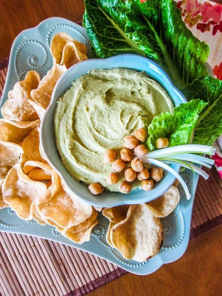 Roasted Garlic Scape Hummus