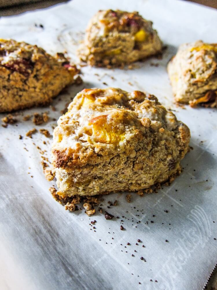 Vegan Peaches and Cream Scones