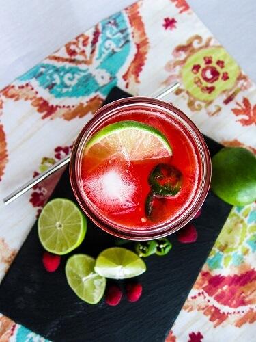 Raspberry Jalapeno Limeade