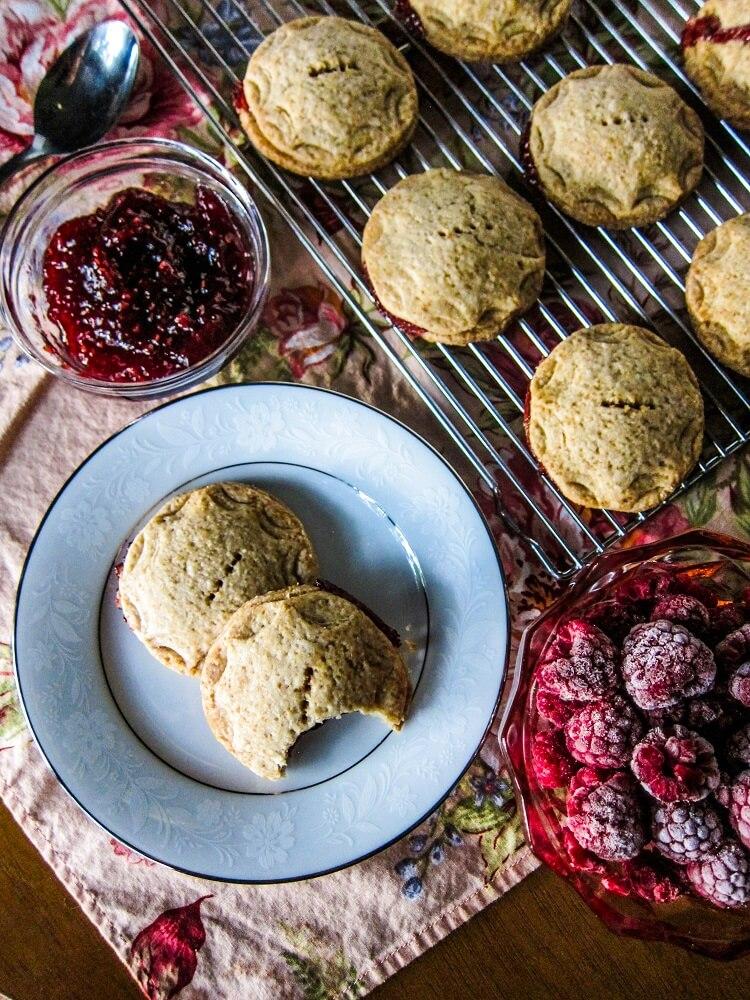 Vegan Raspberry Lavender Pie Cookies