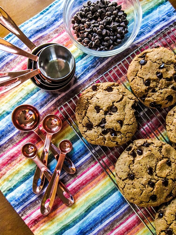 Oil Free Vegan Chocolate Chip Cookies