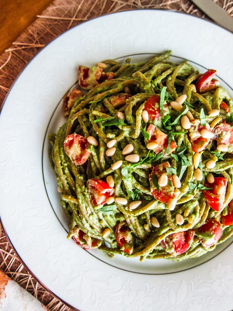 Summer Basil Pesto Pasta
