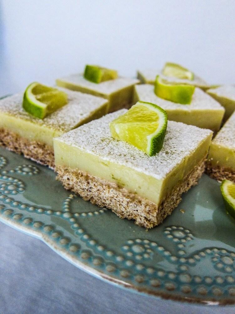 Vegan Key Lime Curd Bars