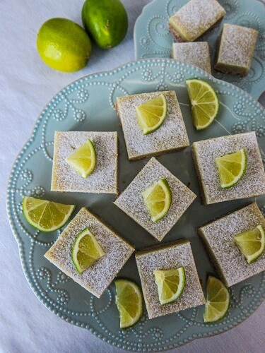 Vegan Key Lime Curd Bars