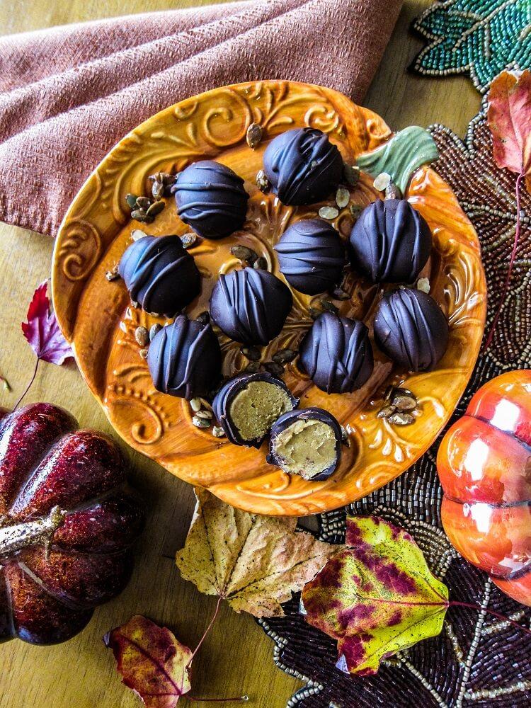 Vegan Pumpkin Spice Latte Caramels