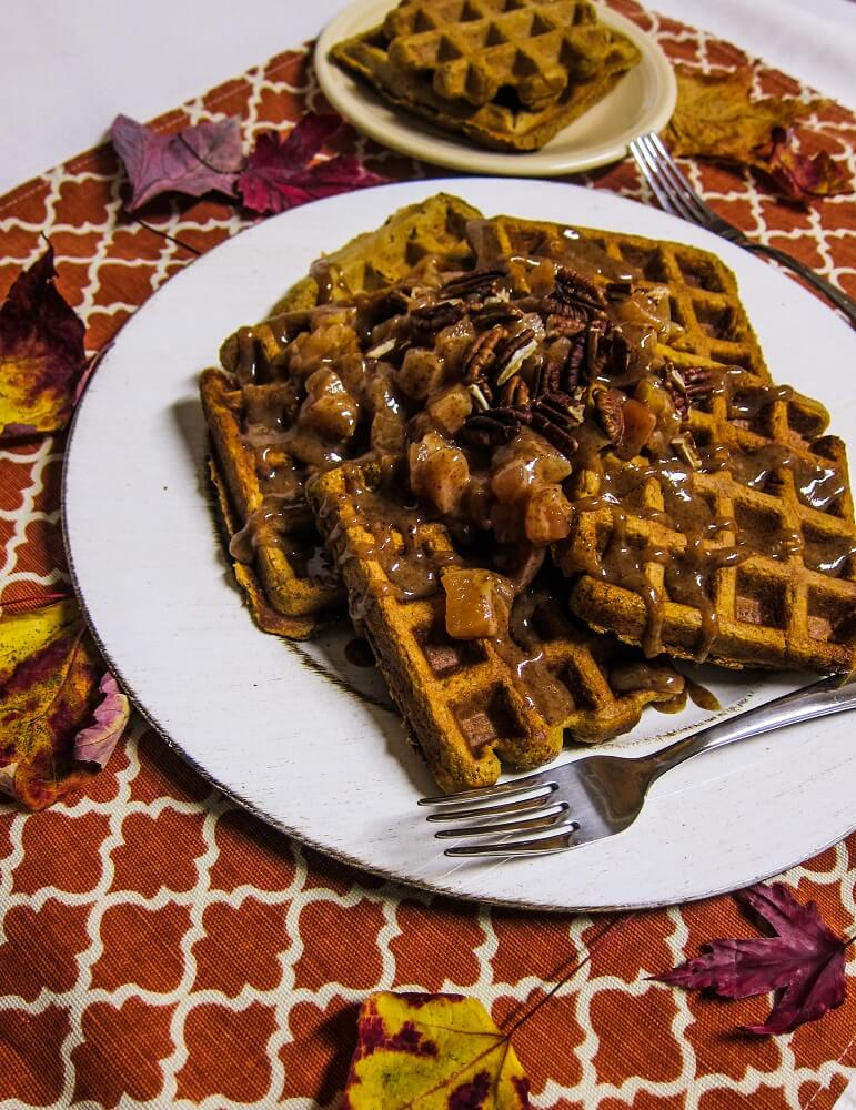 Vegan Sweet Potato Waffles