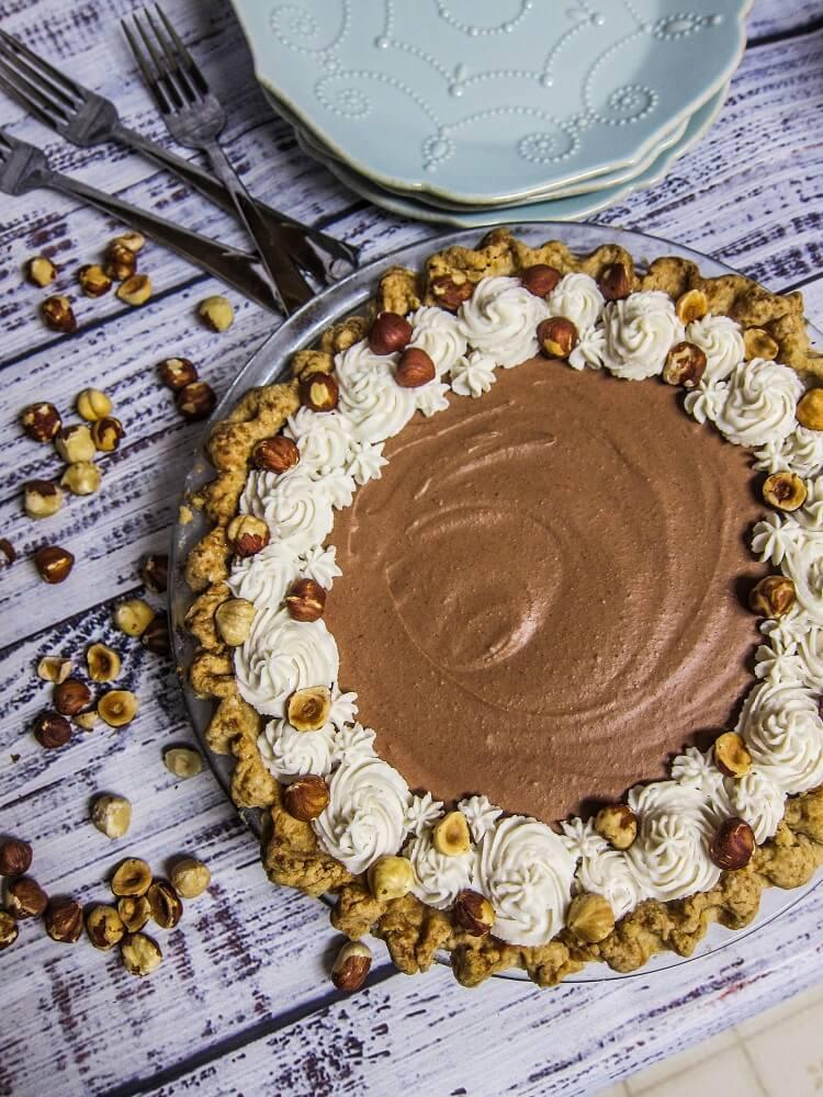 Vegan Chocolate Hazelnut Silk Pie