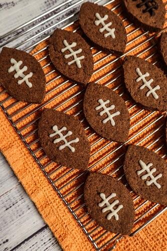 Vegan Chocolate Football Cookies