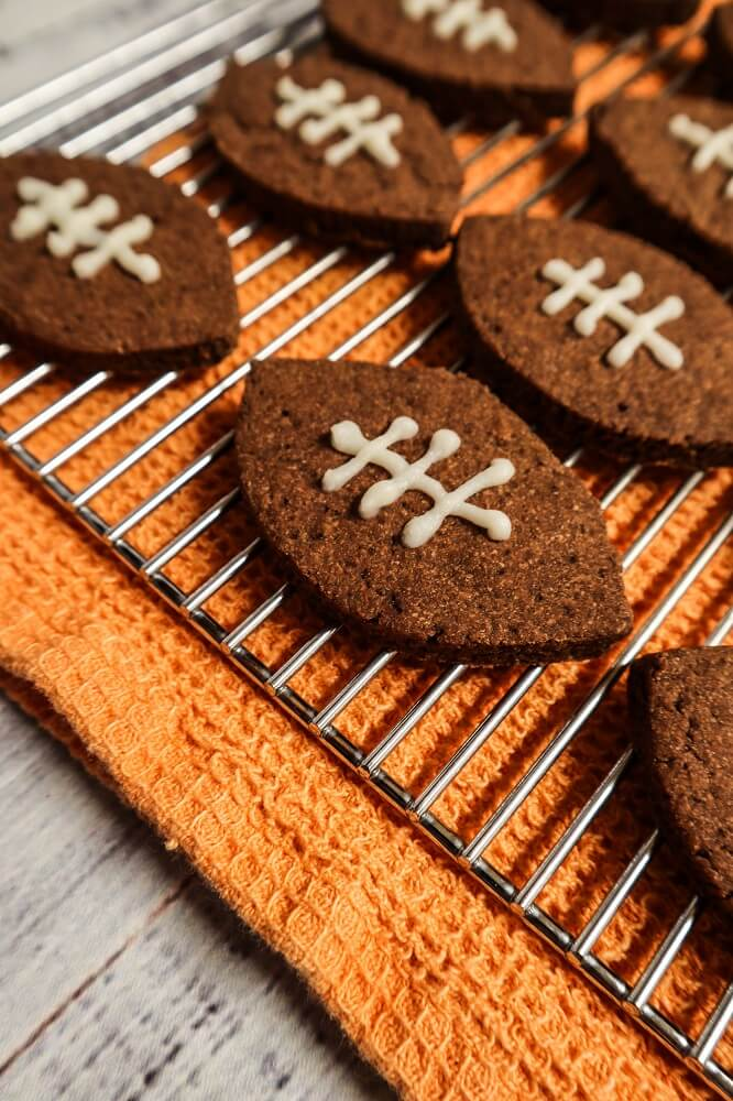 Vegan Chocolate Football Cookies