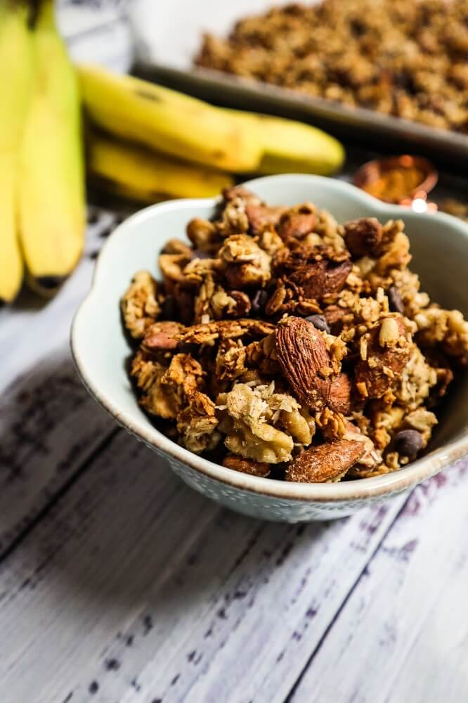 Vegan Banana Bread Granola