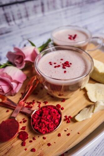 Raspberry Rose White Chocolate Latte