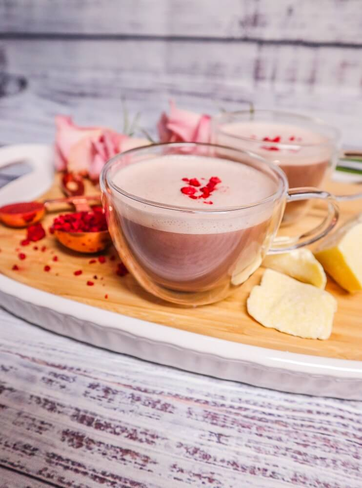 Raspberry Rose White Chocolate Latte
