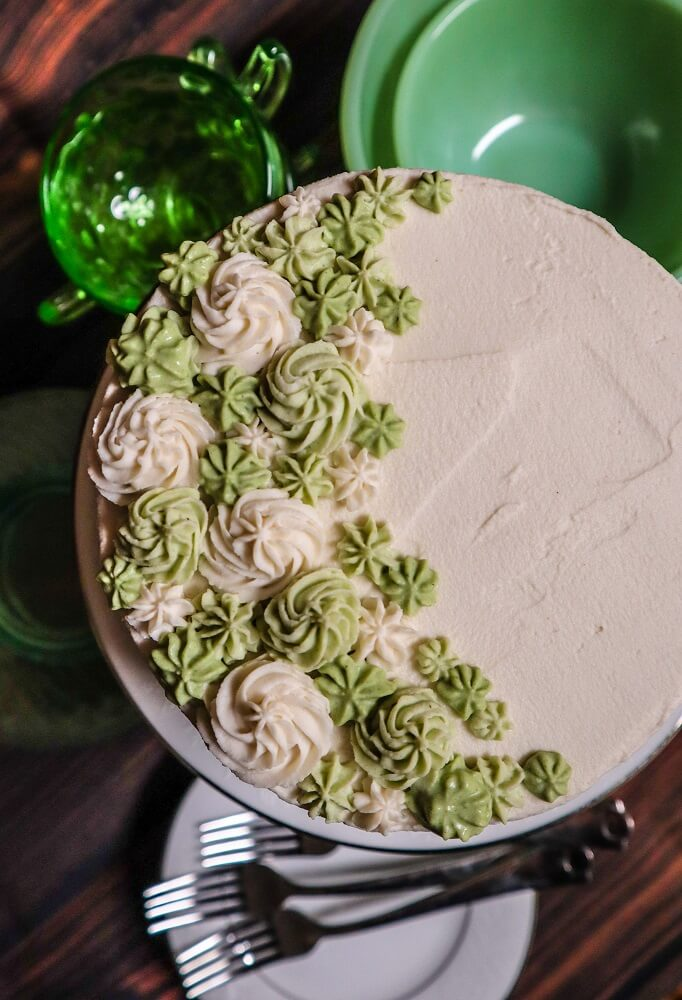 Vegan Peppermint Marble Cake