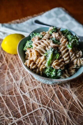 Tahini Lemon Broccoli Pasta