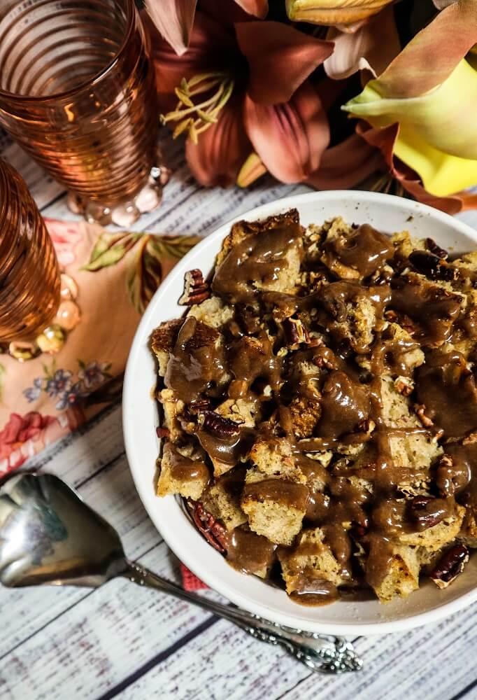 Vegan Maple Pecan French Toast Casserole