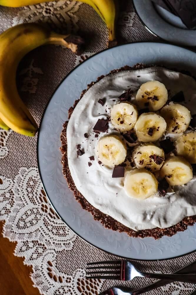 Vegan Chocolate Banana Cream Pie