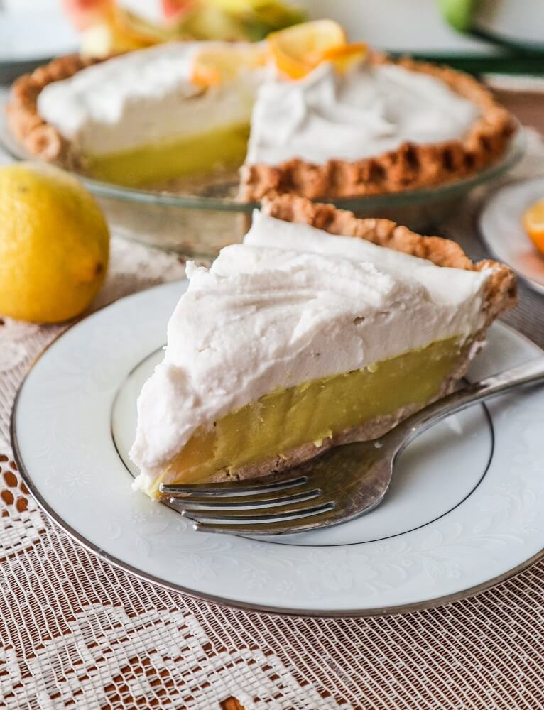 Vegan Lemon Cream Pie