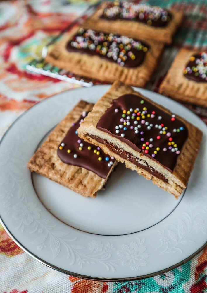 Vegan Chocolate Hazelnut Pop Tarts