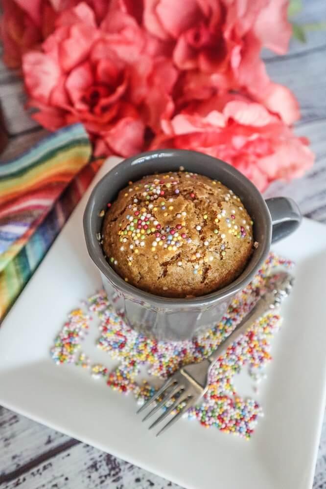 Vegan Vanilla Cake In a Mug