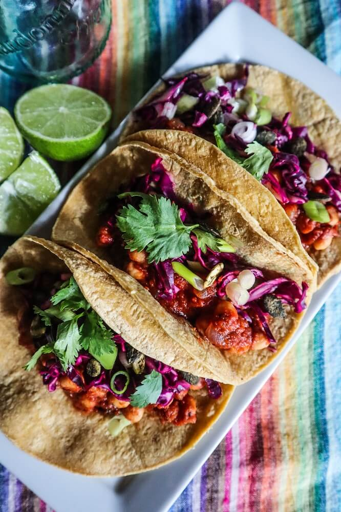 BBQ Chickpea Tacos